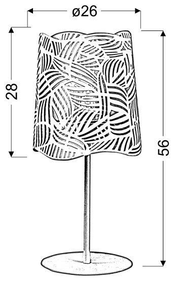 MARACANA LAMPKA GABINETOWA 1X60W E27 (D26/H56)
