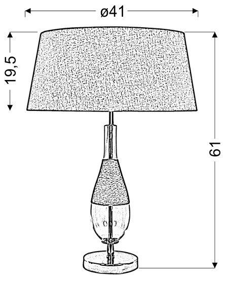ECO 1 STOŻEK LAMPKA GABINETOWA 41X61 1X60W E27