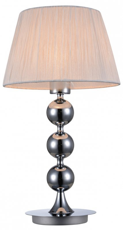 CLARA LAMPKA 1X60W E27 CHROM / BIAŁY