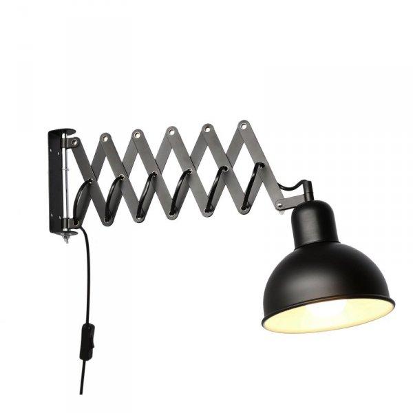 HARMONY LAMPKA NA WYSIĘGNIKU HARMONIJKOWYM 1X40W E27 CZARNY