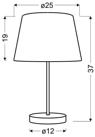 PABLO LAMPKA GABINETOWA 1X60W E27 ŻÓŁTY