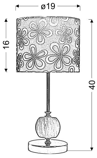 CORT LAMPKA GABINETOWA 1X60W E27 CZARNY
