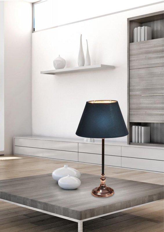 NOE LAMPKA GABINETOWA 1X60W E27 STOŻEK CZARNY
