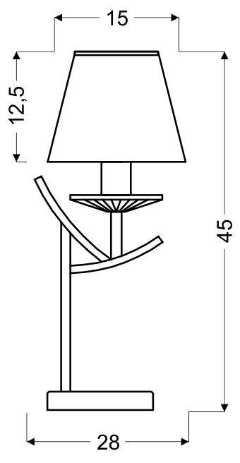 VALENCIA LAMPKA 1X40W E14 CHROM H-45