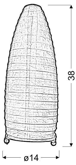PAPIRUS LAMPKA PAPIEROWA ŻÓŁTY 40W E14