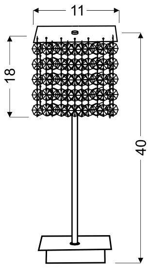 CLASSIC LAMPKA GABINETOWA 1X40W G9 BURGUND
