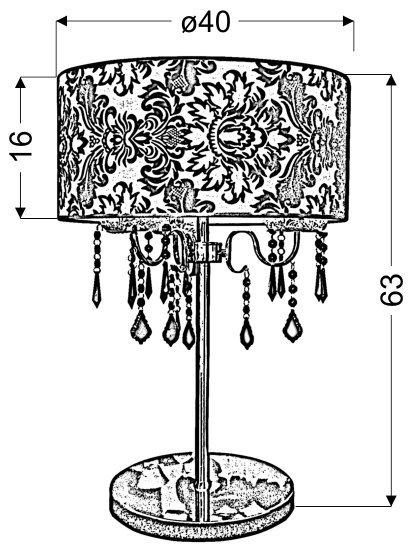 ASTOR LAMPKA GABINETOWA 3X40W E14 + ABAŻUR 77-31085