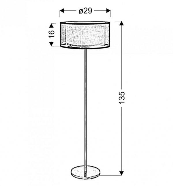 SOLO LAMPA PODŁOGOWA 3X40W E14 CHROM