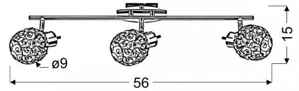 HORUS LISTWA 3X40W G9 CHROM