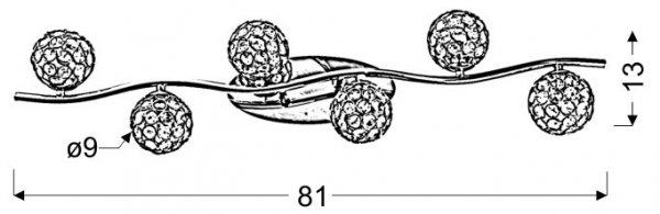 STARLET LISTWA 6X40W G9 CHROM/TRANSPARENT