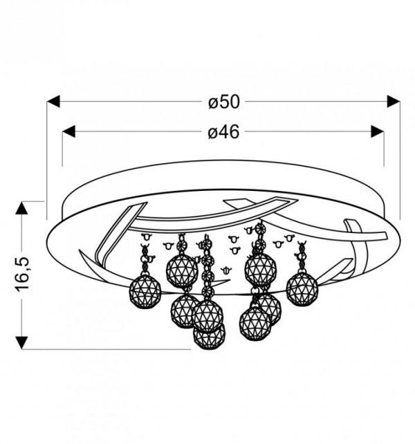 KORFU PLAFON 50 30W LED CHROMOWY 4000K