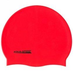 Czepek Aqua-Speed silikon Mega senior czerwony