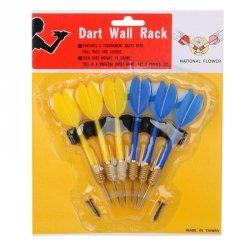 Rzutki  Dart Wall Rack  6 szt steel 3+3 multikolor