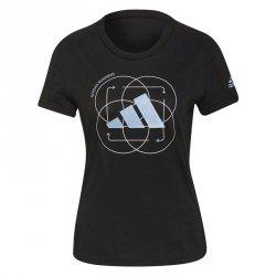 Koszulka adidas Run Logo W 2 GV1350 czarny S
