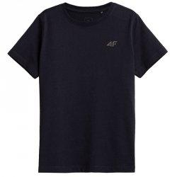 T-Shirt 4F HJZ21-JTSM002B 31S granatowy 146 cm