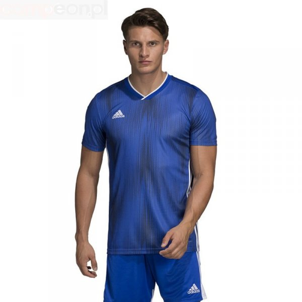 Koszulka adidas Tiro 19 JSY DP3532 niebieski 140 cm