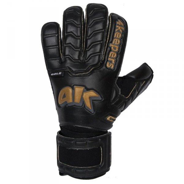 Rękawice 4keepers Champ Black Gold IV RF + płyn czyszczący czarny 10,5