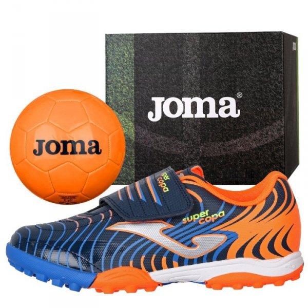 Buty Joma Super Copa JR 2003 TF SCJS.2003.TF + Piłka Gratis granatowy 32
