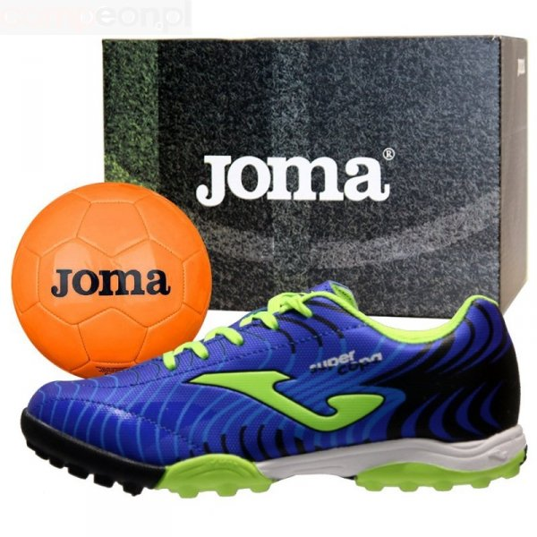 Buty Joma Super Copa JR 2004 TF SCJS.2004.TF + Piłka Gratis niebieski 30