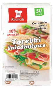 KUCHCIK 2121 TOREBKI ŚNIADANIOWE 21x10 A50