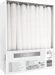 Bispol świeca stożek biała  S30-90  A40