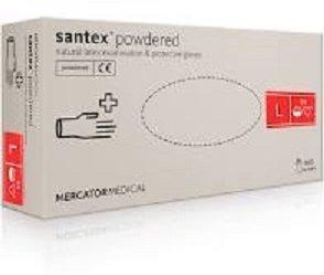 """SANTEX POWDERED """"L"""" RĘKAWICE PUDROWANE A100"""