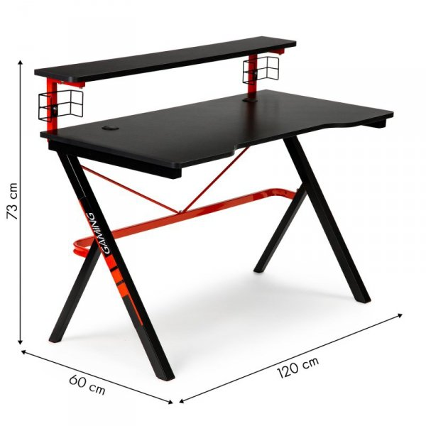 Biurko gamingowe stół dla gracza  uchwyt na kubek