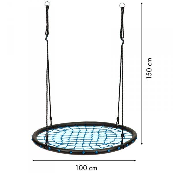 Huśtawka ogrodowa bocianie gniazdo pajęcza sieć ECOTOYS