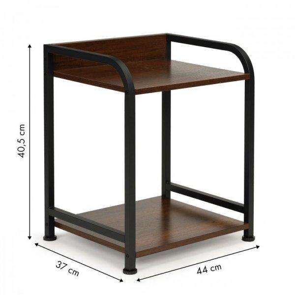 Stolik nocny szafka 2 poziomy półki loft