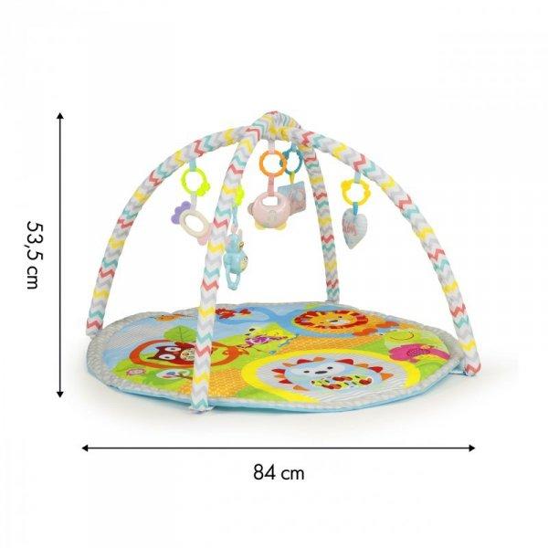 Mata edukacyjna dla niemowlaków z zabawkami