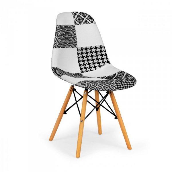 Krzesła do jadalni zestaw krzeseł patchwork 2 szt.