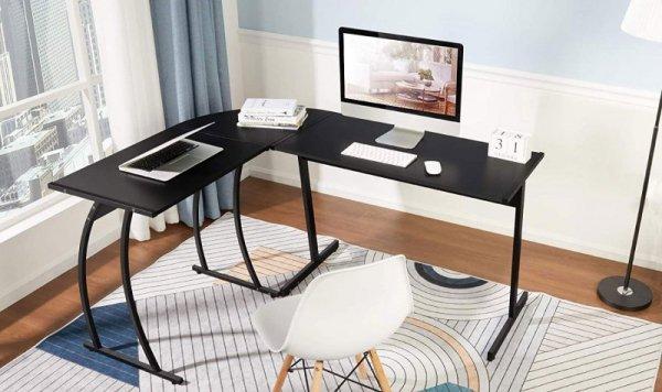 Biurko narożne gamingowe biurowe LOFT szkolny stół