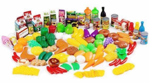 Plastikowe warzywa owoce do kuchni 120 szt