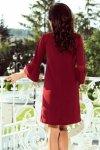 Sukienka z koronką na rękawkach Margaret - Bordowa - numoco 190-8