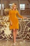 Sukienka z kokardkami Alicja - Musztarda - numoco 195-6