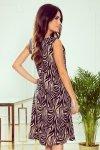 Victoria Trapezowa sukienka - Beżowa zebra