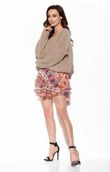 Zwiewna spódniczka z jedwabiem LG545 M druk 19