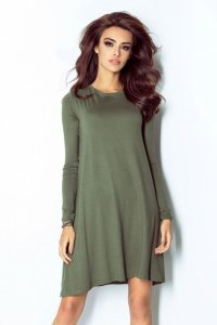 Sukienka Amelya Basic - Khaki - Ivon