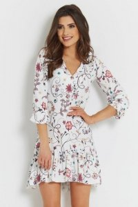 Sukienka Irina boho - Biała - StreetStyle 728
