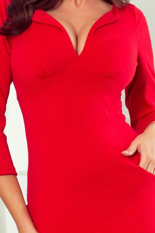 Dopasowana sukienka z dekoltem Missy - Czerwona - numoco 269-1