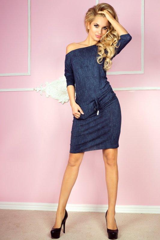 Sukienka sportowa - Wiskoza - jeans granatowy - numoco 13-19