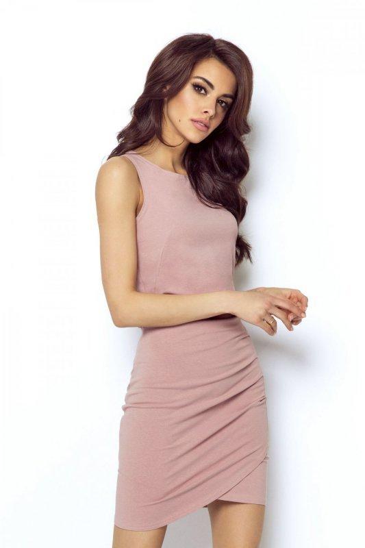 Spódnica zakładana z przodu Margot - Brudny Róż - Ivon