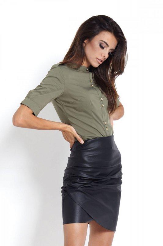 Koszula damska ze stójką Selena - Oliwka - Ivon