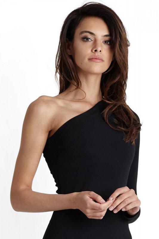 Sukienka na jedną rękę Tamira - Czarna - Ivon