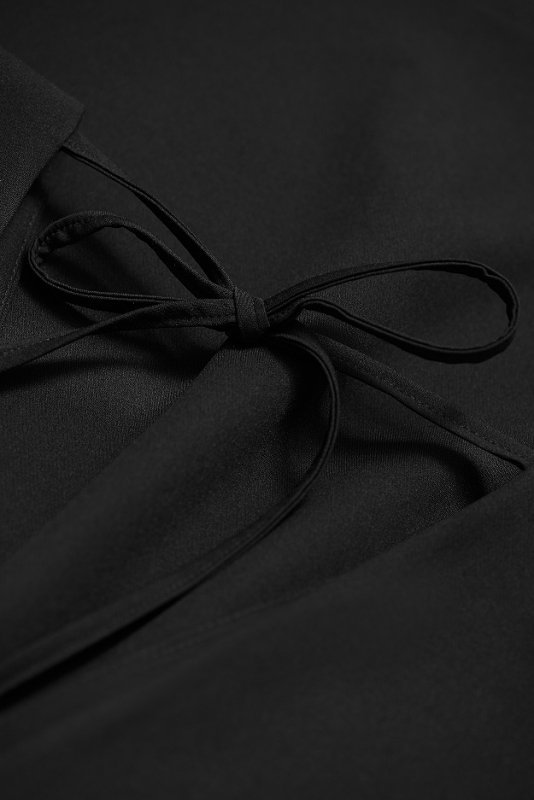 Luźna sukienka o prostym kroju Lena - Czarna  - StreetStyle 736