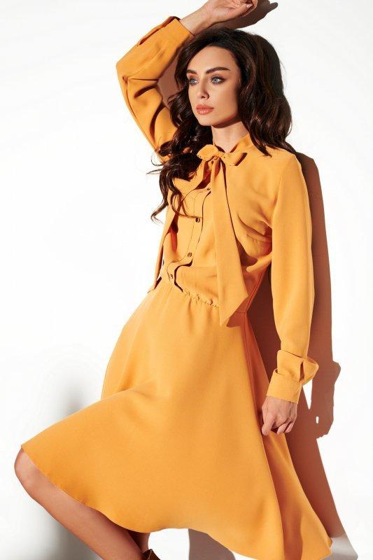 Sukienka wiązana przy szyi kolor - StreetStyle  L310