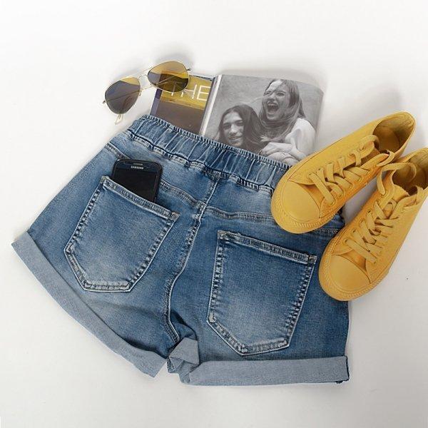 Spodenki jeansowe damskie wiązane StreetStyle-3