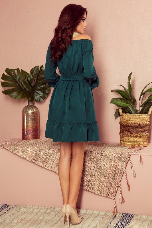 Sukienka z falbankami Daisy - Zielona