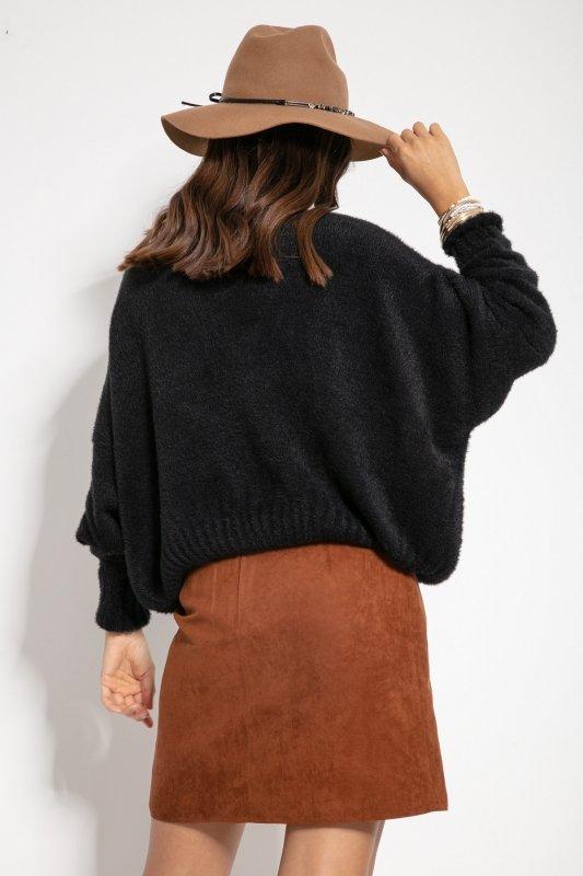 Sweter F1070- Czarny -2