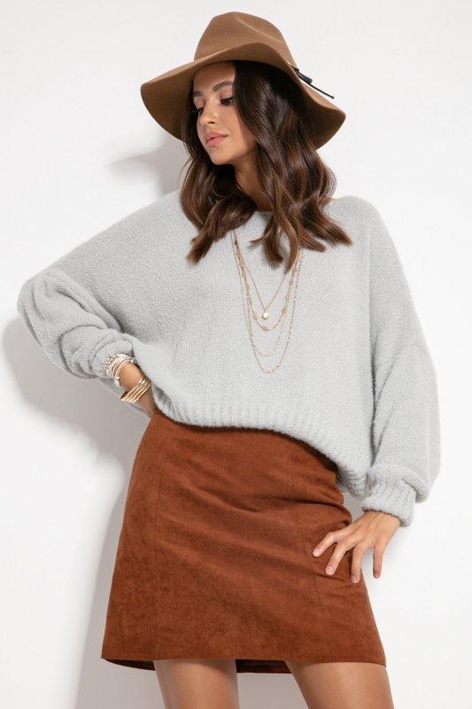 Sweter F1070- Szary -2